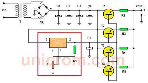 Esta fuente de voltaje variable de potencia con en regulador de voltaje LM317 varía su voltaje de salida desde 1.5 a hasta 15 voltios, y hasta 15 amperios