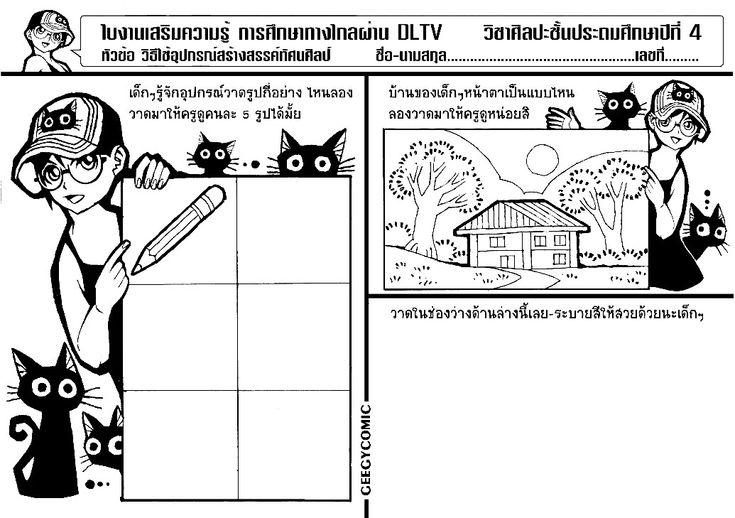 ใบงาน ป 4 1 สอนศ ลปะ ศ ลปะ ภาพวาด