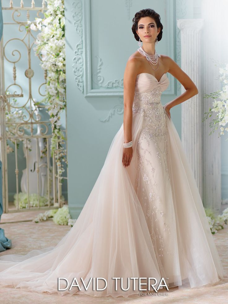 30 best images about overskirts on pinterest zuhair for Wedding dress with overskirt