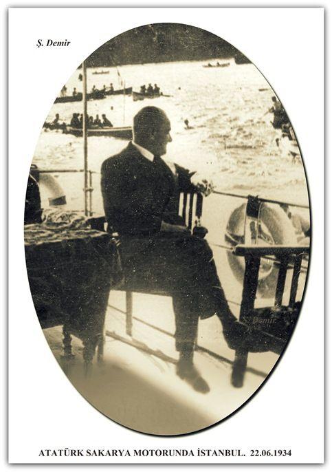 ATATÜRK SAKARYA MOTORUNDA İSTANBUL.  22.06.1934