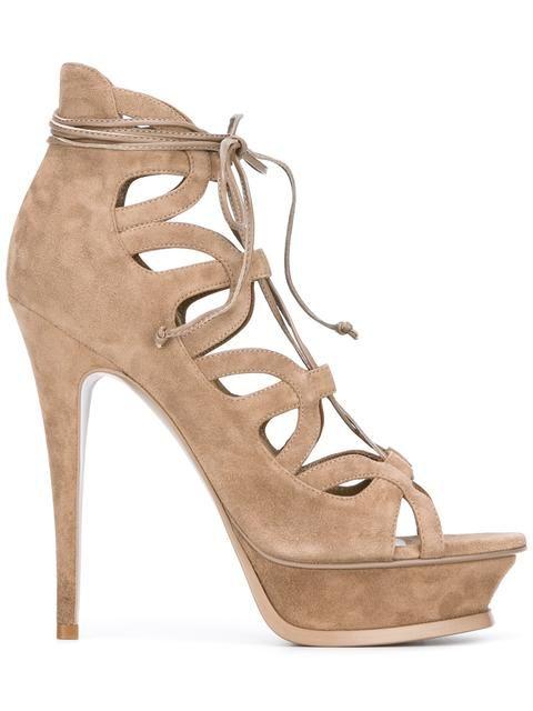 18190947c72 Shop Saint Laurent Tribute Sixteen 105 sandals