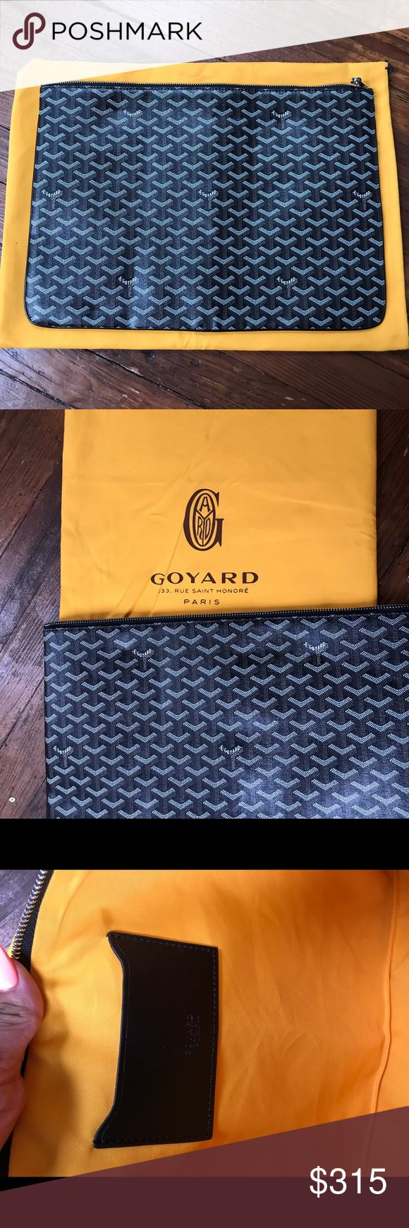 Goyard senat GM Large goyard pouch. Not sure of authenticity. Bought from another posher. Brand new, never worn. Price reflects Goyard Bags Clutches & Wristlets