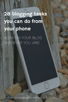 These are such great ideas for how to get work done on your blog while you're on your phone. All mobile-friendly for easy multitasking! >> LaurenWayne.com