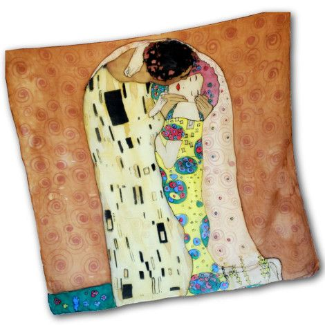 Umelecká hodvábna šatka BROWN GUSTAV KLIMT – THE KISS, ktorej motívom bol svetoznámy rakúsky maliar Gustav Klimt. Jeho dielo THE KISS bolo oslavou života, ale najmä ženy. http://bit.ly/1kEIBb6