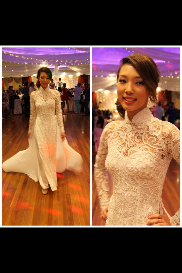 http://facebook.com/rainbowwed Vietnamese Traditional Wedding Ao Dai Lace