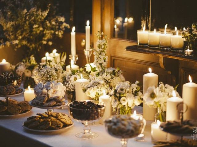 Bougie buffet mariage