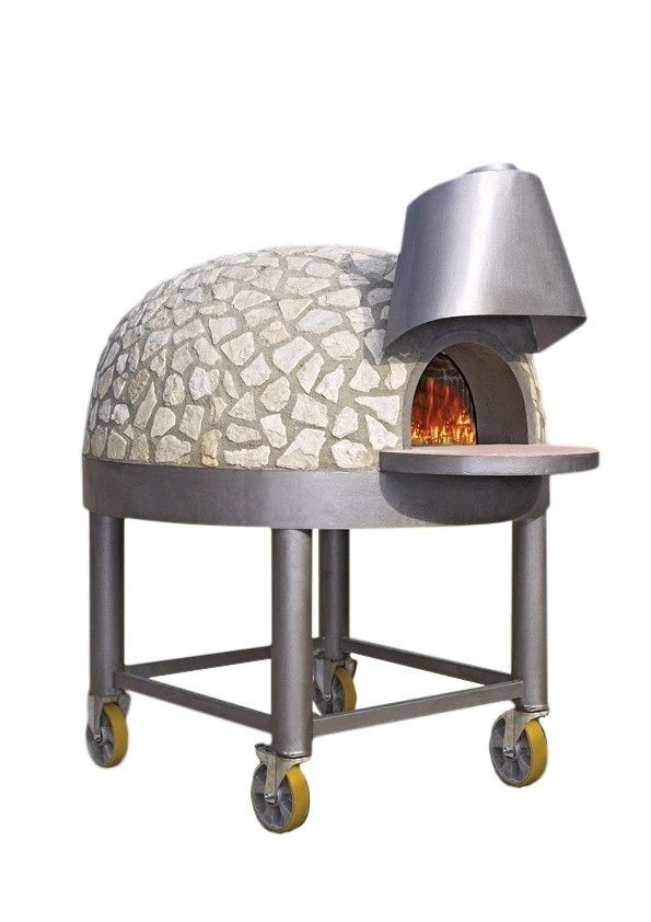 wood fired pizza oven on wheels