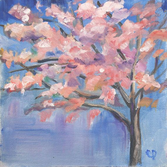 158 best images about simple paintings on pinterest for Simple cherry blossom painting