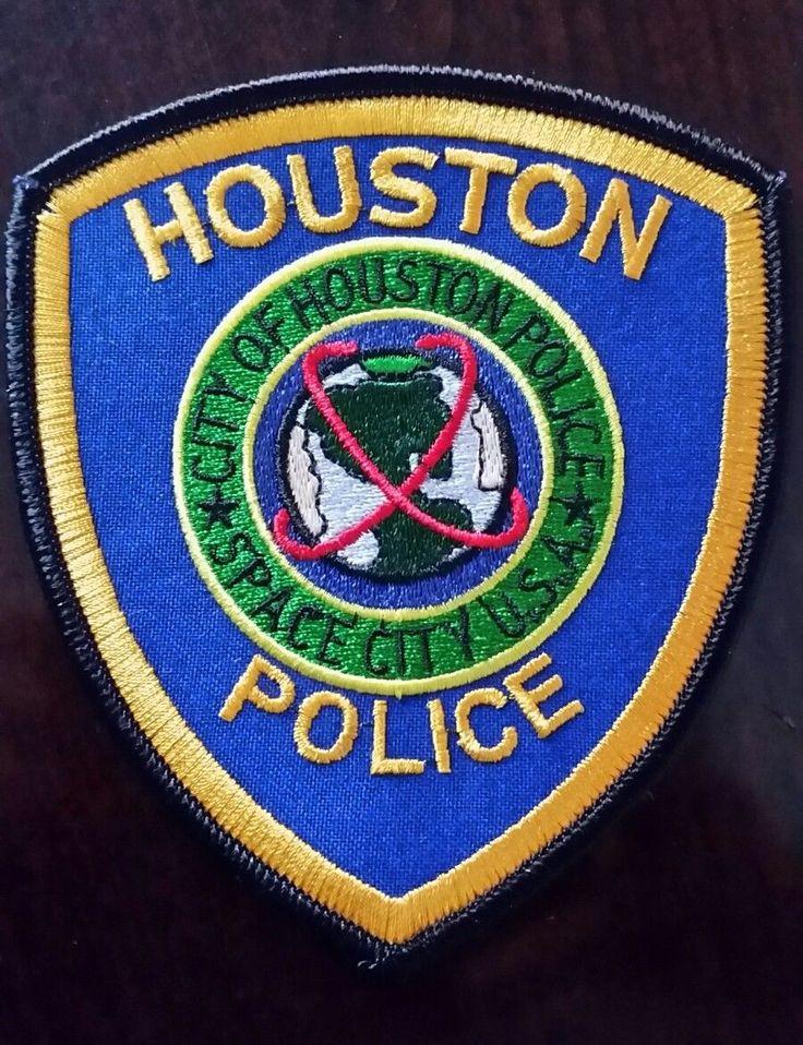 New - CITY OF HOUSTON POLICE SPACE CITY USA - HOUSTON POLICE PATCH