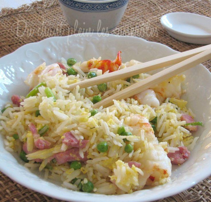 riz cantonais (riz sauté)...