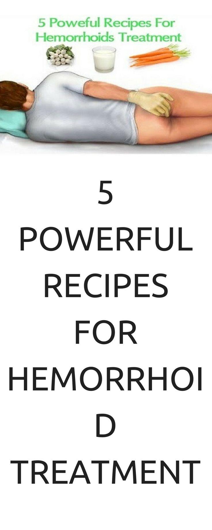 5 POWERFUL RECIPES FOR HEMORRHOID TREATMENT