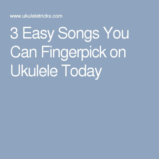 how to play any fingerstyle songs ukulele