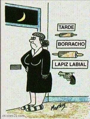humor grafico esperando marido