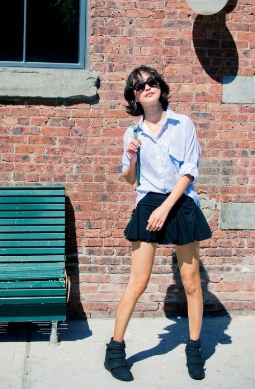 一着は持っていたい黒のフレアミニスカート!キュートなフレアミニスカートのコーデ☆スタイル・ファッションの参考に♪