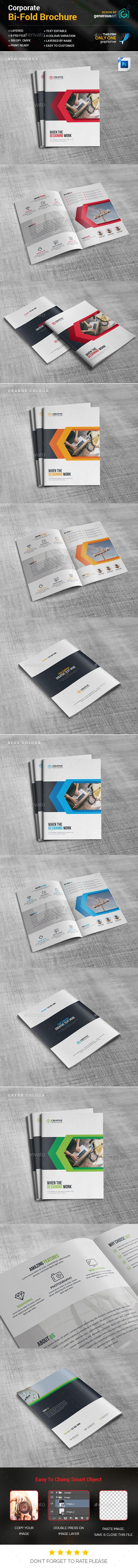 Business Bi-Fold Brochure Template PSD. Download here: http://graphicriver.net/item/business-bifold-brochure/16922781?ref=ksioks