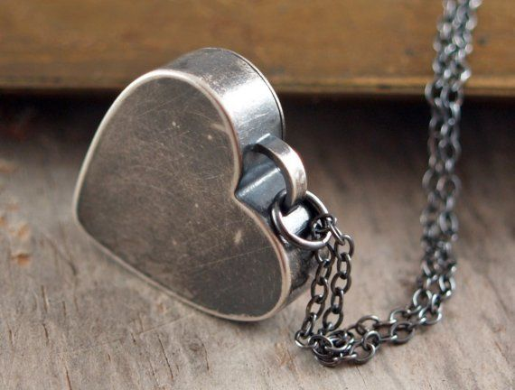Intrepid Heart Sterling Silver Hand Forged Pendant
