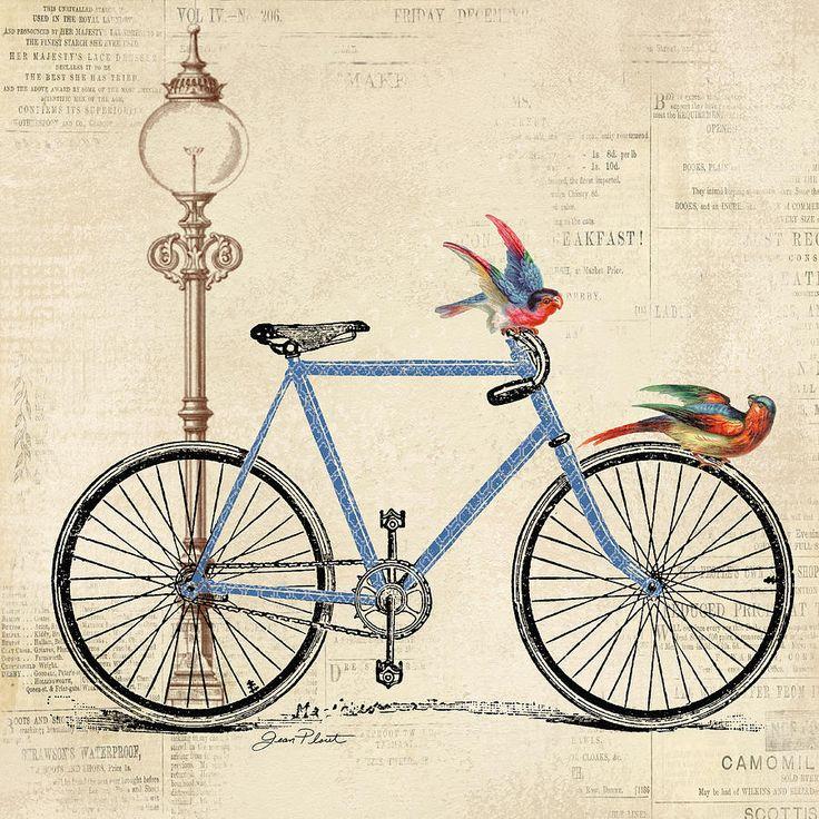 Винтажные открытки с велосипедом