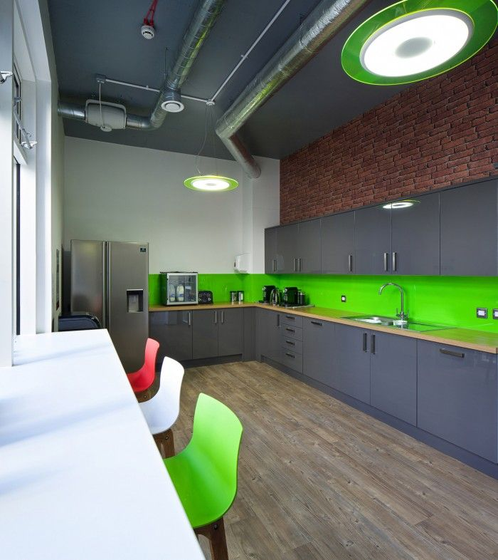 green eco office building interiors natural light. made simple u2013 london offices wood plank flooring paint ceiling and break room green eco office building interiors natural light e