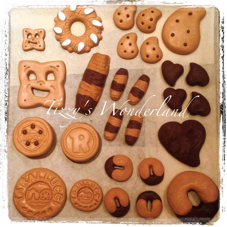 Biscuit magnets in polymer clay Fimo! Calamite biscotti in fimo!