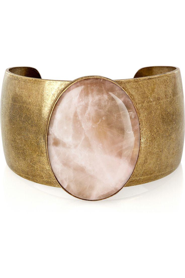 ISABEL MARANT Pop Life rose quartz brass cuff