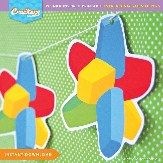 This item is an instant download DIGITAL file. No physical products will be shipped.  - - - - - - - - - - - - - - - - - - - - - - - -  ITEM DETAILS You will receive a single-page digital PDF containing 6 x Everlasting Gobstopper shapes (4 small and 2 large) in the file size of your choice:  US Letter size - 8.5 x 11 inches OR A4 size - 210 x 297mm  Large Gobstopper shapes measure approximately 129mm (w) x 125mm (h). Small Gobstopper shapes measure approximately 58mm (w) x 56mm (h)…