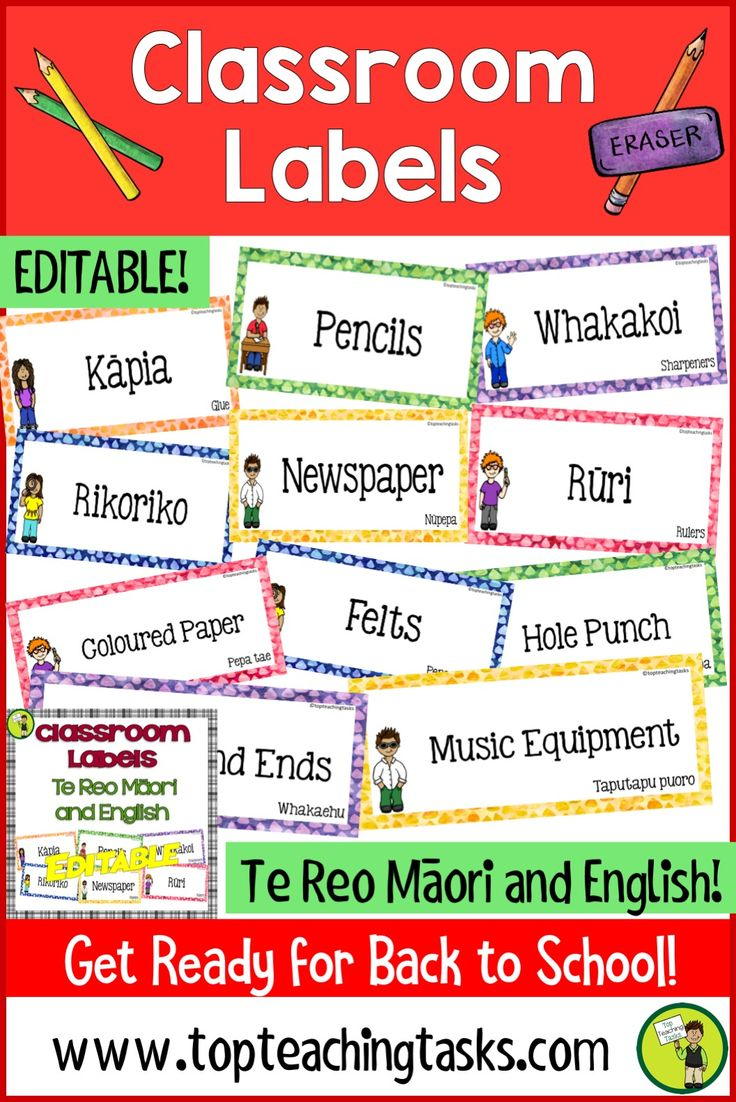 Brighten up your classroom while teaching Te Reo with these Te Reo Māori Classroom Labels. This product is now editable. Type into blank labels at the end of the product to create your own labels! Available in both te reo Māori and English. #BacktoSchoolNZ #backtoschool #labels #classroom