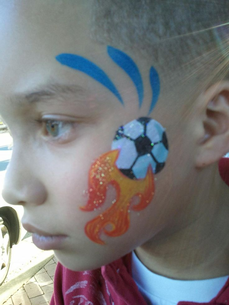 Football Face Paint Designs