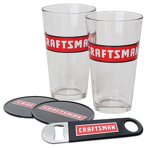 Craftsman CRAFTSMAN PINT GLASSES, COASTERS & BOTTLE OPENER ...
