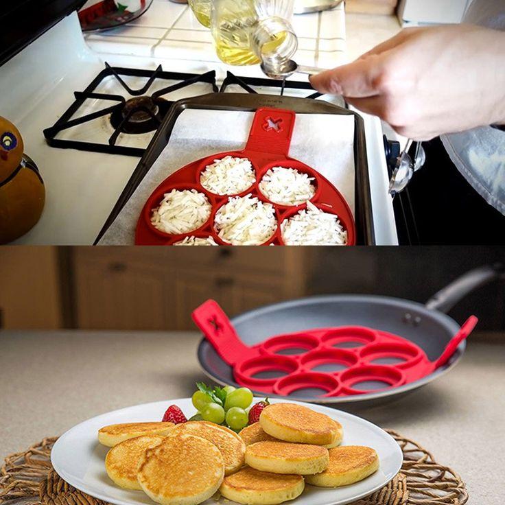 2017 neue Nonstick Crêpière Ring Eierkocher Perfekte Pfannkuchen Einfache kuchen modell backenwerkzeuge Diy Pfannkuchen Square & round & liebe