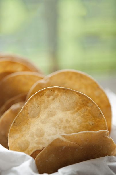 Taste-Like-Fried Tortillas by @Three Many Cooks (gluten free): Coeliac Gluten Free, Tortillas Glutenfree Pinned, Taste Like Fried Tortillas, Bread, Cooks Gluten, Baked Tortillas, Arrange Tortillas, Connor Gluten Free, Appetizer