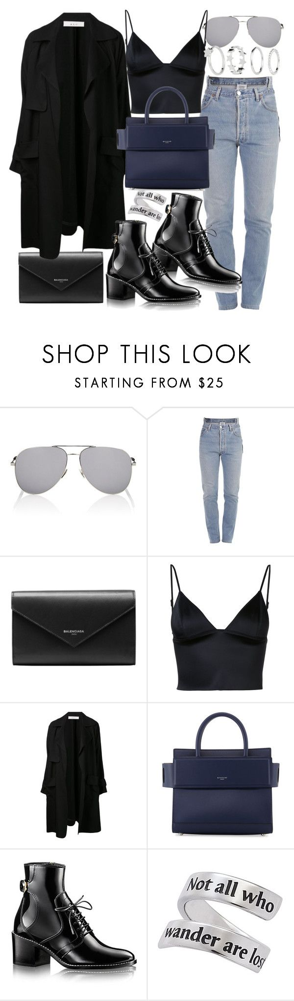 """Untitled #20862"" by florencia95 ❤ liked on Polyvore featuring Yves Saint Laurent, Vetements, Balenciaga, T By Alexander Wang, A.L.C., Givenchy and H&M"