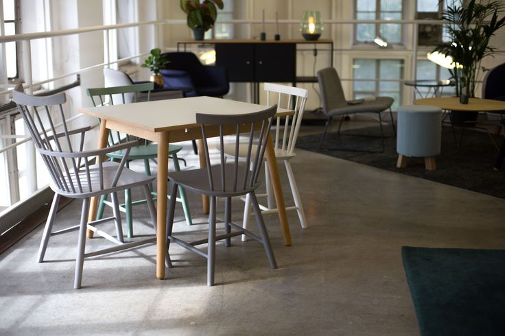 J46 and J52 FDB Chairs and C35 Table at Icons of Denmark, Designjunction 2015