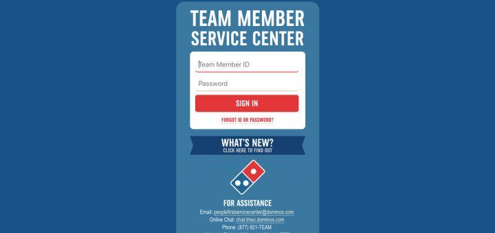 Team Member Service Center TMSC Please Sign In Team member