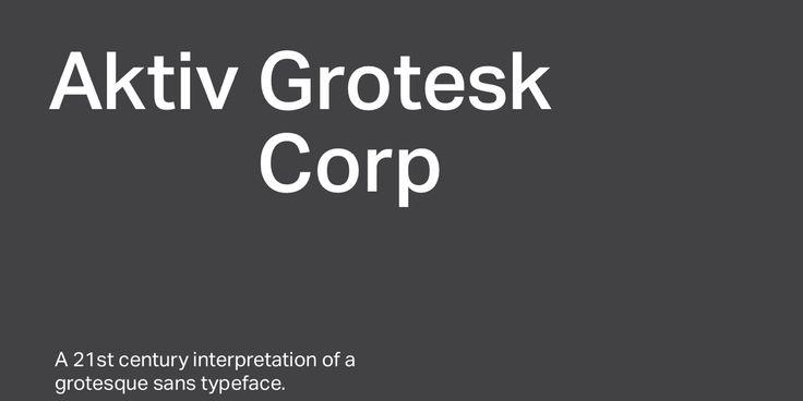 Aktiv Grotesk Corp - Desktop font « MyFonts