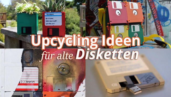 Retro: 6 Upcycling Ideen f�r alte 3,5 Zoll Floppy Disks