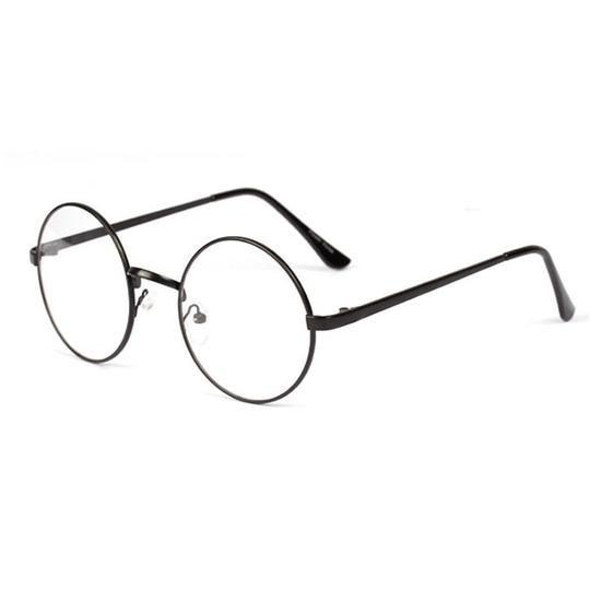 0bbe12494d Womens Trendy Metal Frame Round Clear Lens Glasses Mens Nerd Spectacle –  novahe