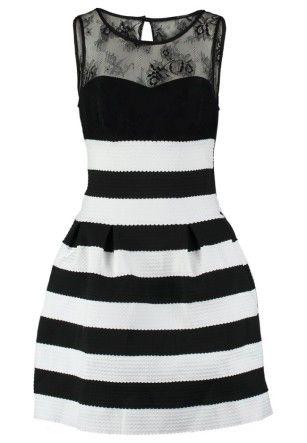 Guess  MANOLA Robe de soirée black/white striped