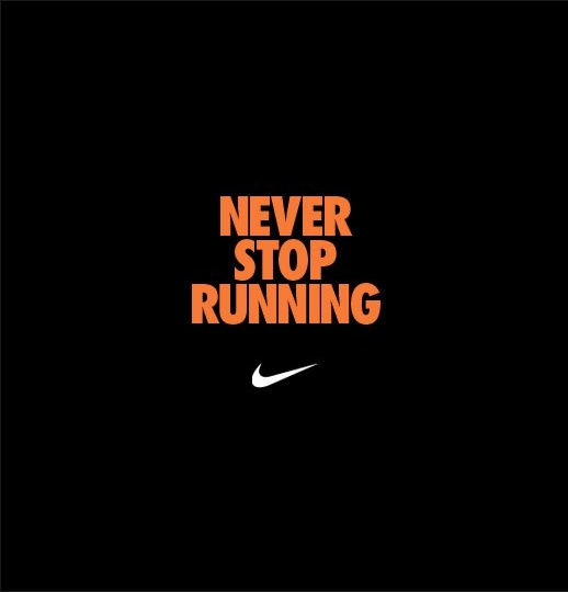 Inspirational Quotes About Failure: Never Stop #running! #Nike