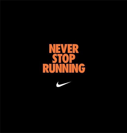 never stop #running! #Nike