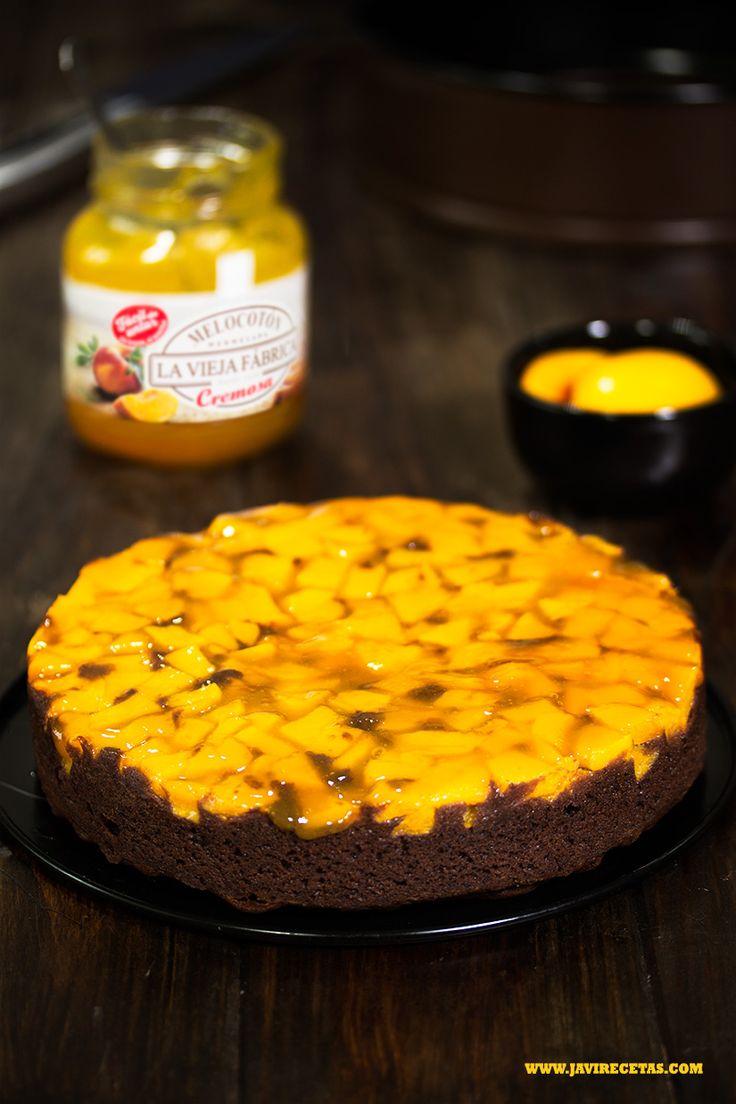 Aquí tenéis la #receta prometida!! Un bizcocho de Chocolate y Melocotón muy fácil de preparar y muy rico!!