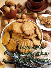 ciastka, orzechy, kruche ciasteczka, domowe słodycze, mąka pełnoziarnista, smaczna pyza, blog kulinarny, domowe wypieki