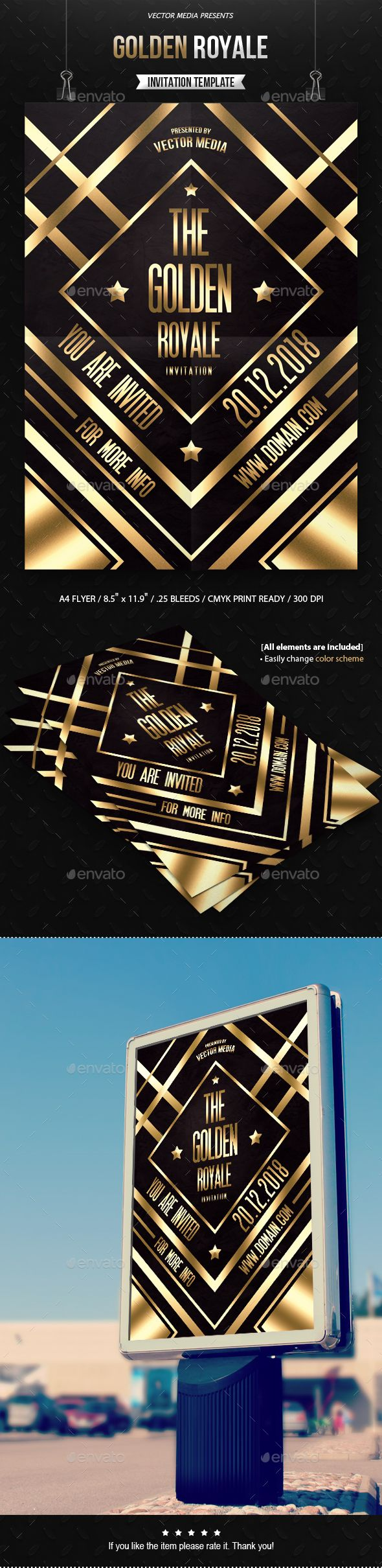 Golden Royale - Invitation