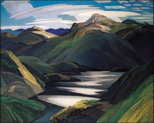 """""""Light and Shadow"""" by Franklin Carmichael, one of the Group of Seven, comprised of seven Canadian landscape artists."""