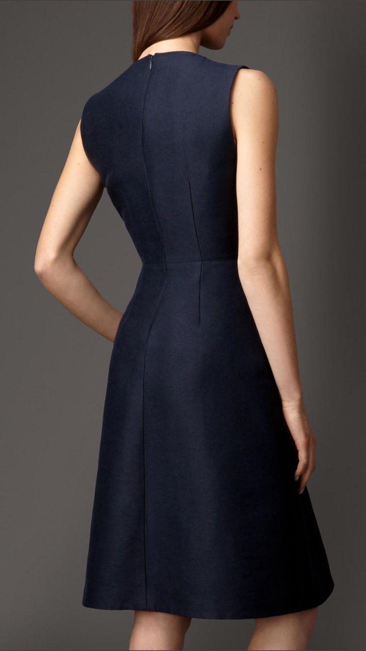 Cotton Silk Sculptural Dress   Burberry
