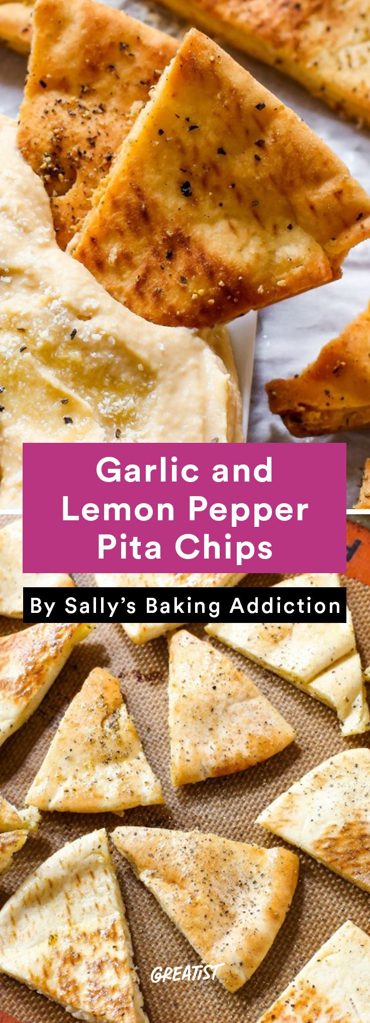 5. Garlicky Pita Chips #healthy #summer #snacks http://greatist.com/eat/healthy-summer-snacks-that-dont-require-a-cooler