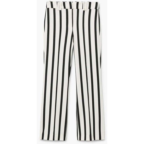 Straight Striped Trousers (2.865 RUB) via Polyvore featuring pants, striped trousers, zipper trousers, straight trousers, mango trousers и straight pants