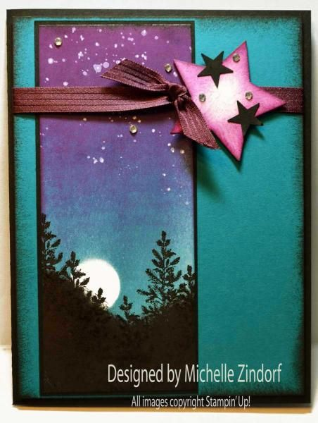 Twinkling Stars - MZ by Zindorf - Cards and Paper Crafts at Splitcoaststampers