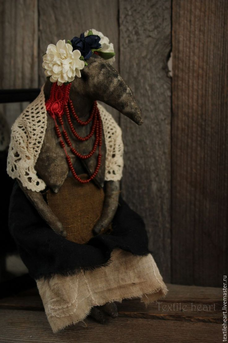 Купить Мара - комбинированный, страшные куклы, Страшные игрушки, чердачная кукла, чердачные игрушки, ворона