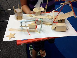 Playground Adventures.  Build a model playground using simple machines.