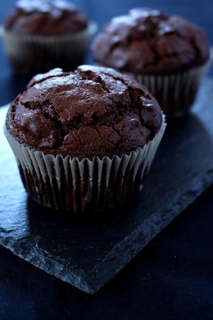 Muffins de Duplo Chocolate para um Regresso